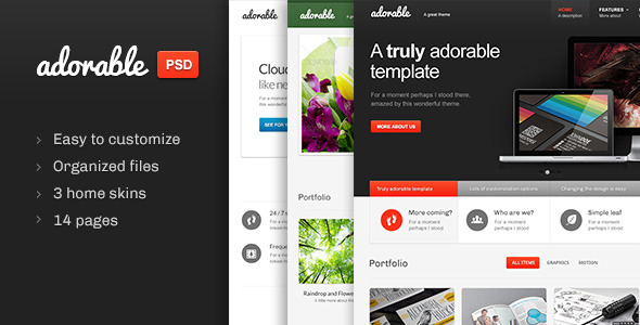 Adorable - Multipurpose PSD template - Preview image