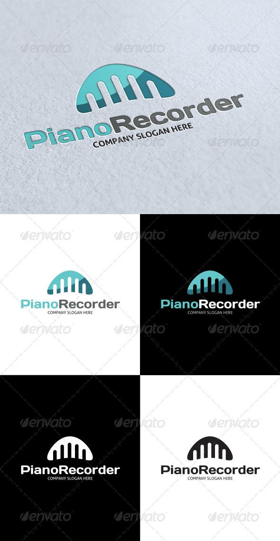 GraphicRiver Piano Record Studio Logo 3289123