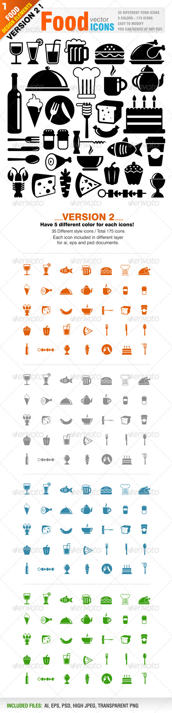 GraphicRiver Food Icons 1300723