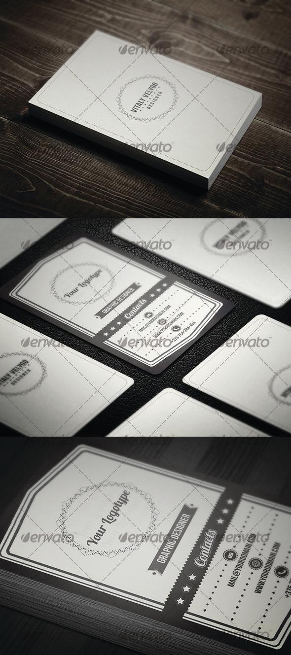 GraphicRiver Retro Business Card 3272385