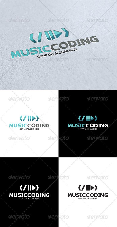 GraphicRiver Music Coding Logo 3289147