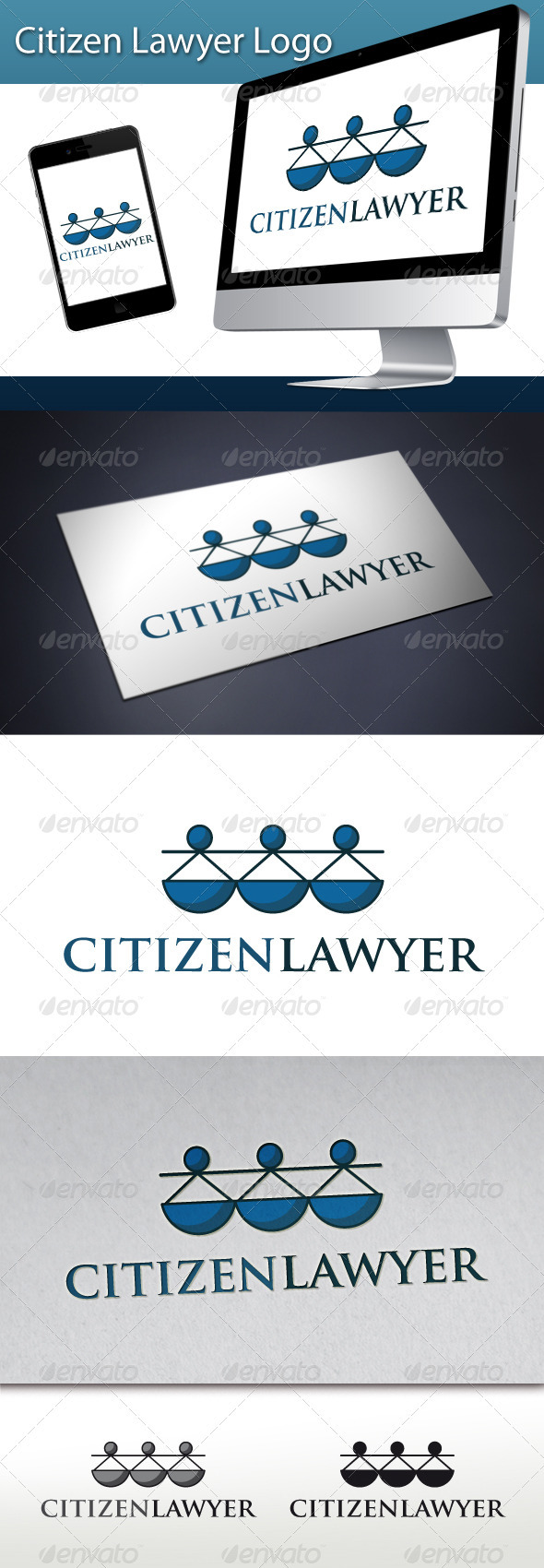 GraphicRiver Citizen Lawyer Logo 3289148