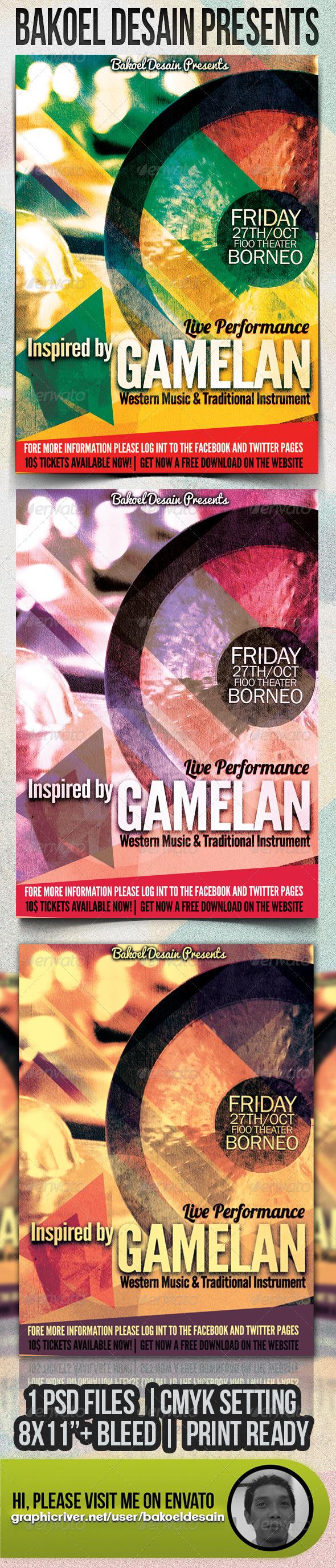 GraphicRiver Gamelan Concert Flyer 3267323