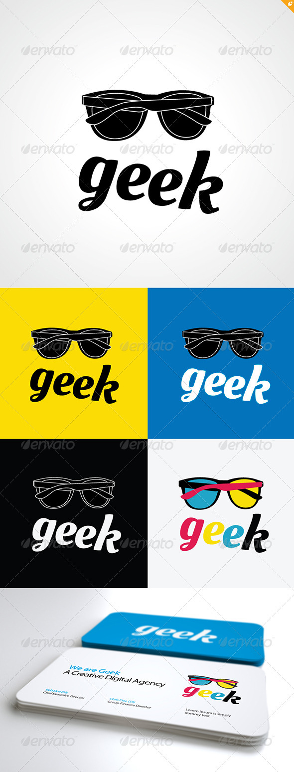 GraphicRiver Geek Logo 3284643