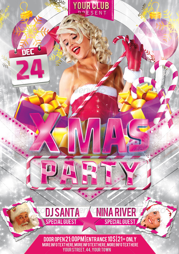 X-Mas Party Flyer Template
