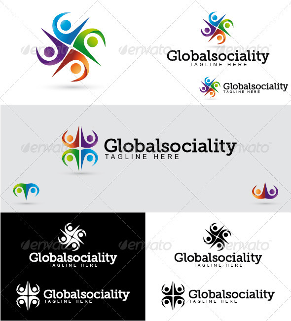 GraphicRiver Globalsociality Logo 3289900
