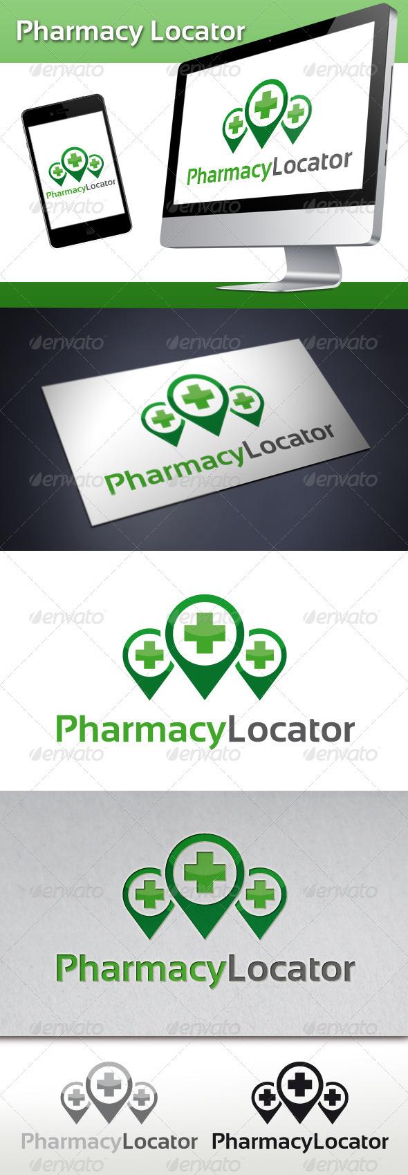 GraphicRiver Pharmacy Locator Logo 3289949