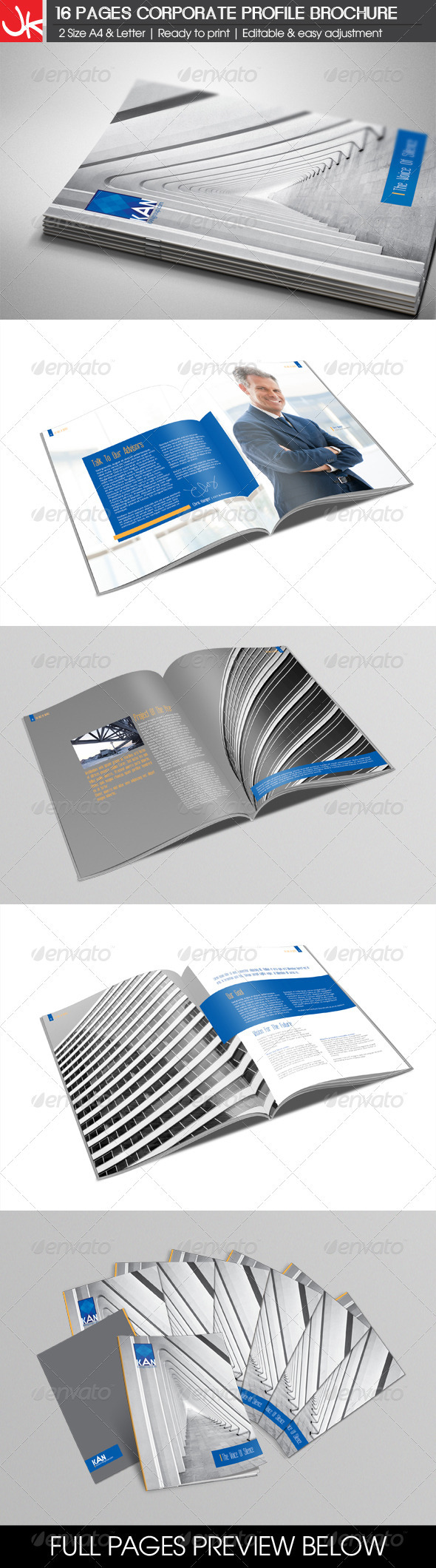 GraphicRiver 16 Pages Corporate Profile Brochure 3279007