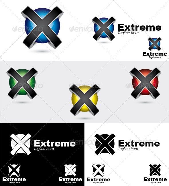 GraphicRiver Extreme Logo 3290115