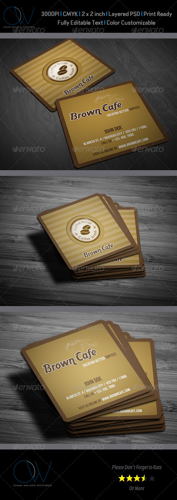 Cafe Business Card - Corporate Business Cards