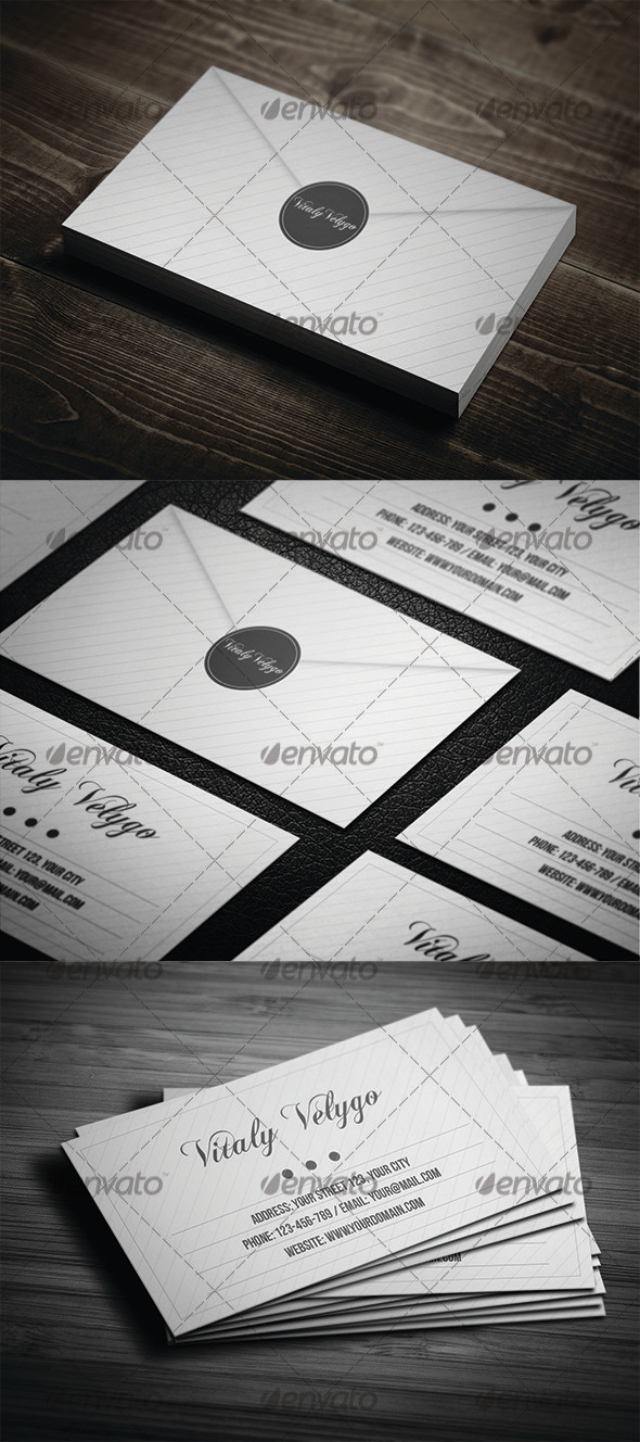 GraphicRiver Letter Style Business Card 3279053