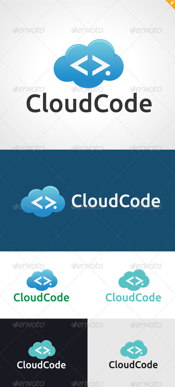 GraphicRiver Cloud Code Logo 3290293