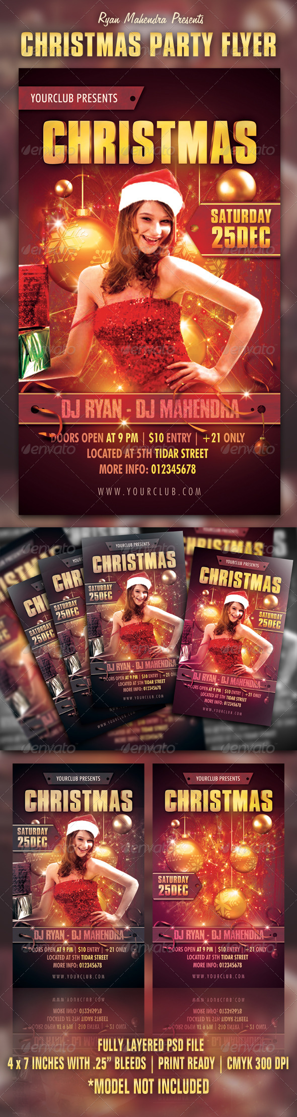 GraphicRiver Christmas Party Flyer 3290294