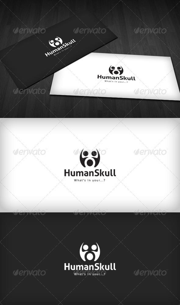 GraphicRiver Human Skull Logo 3290314