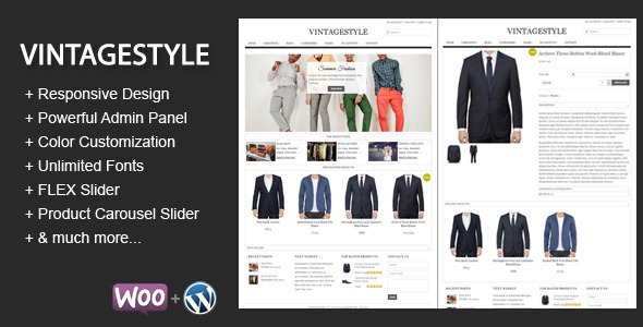 ThemeForest VintageStyle Responsive E-commerce Theme 3187020