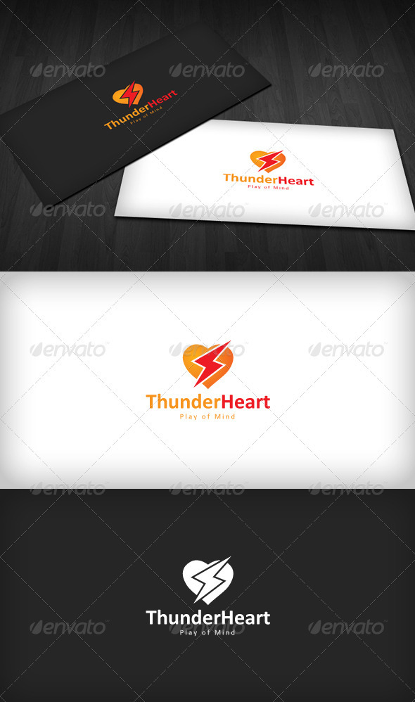 GraphicRiver Thunder Heart Logo 3290440