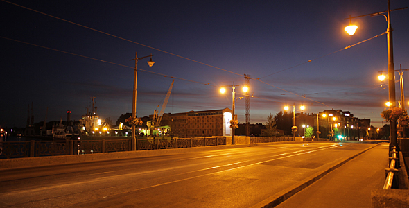 Liepaja Tram Bridge Time Lapse