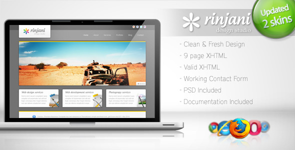 ThemeForest Rinjani Clean Business Template 4 114448