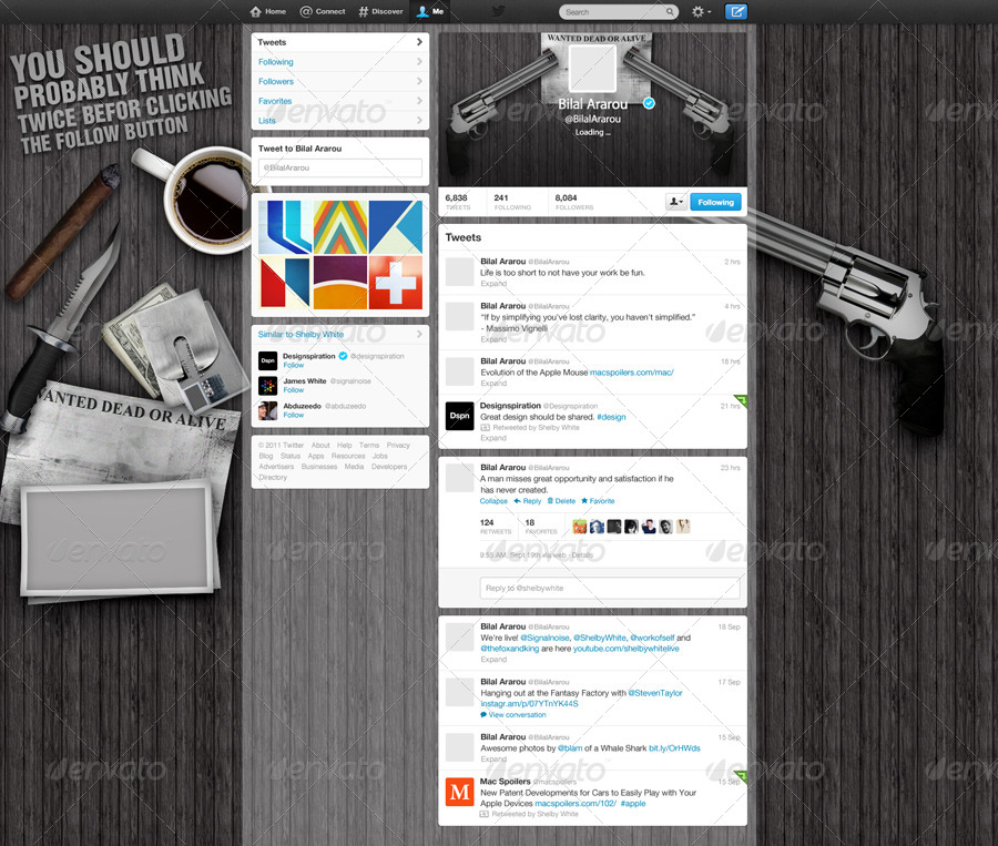 Gangster Style Twitter Background