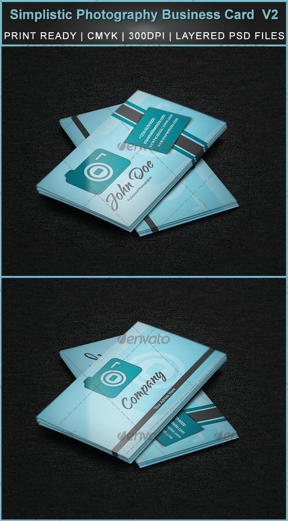 GraphicRiver Simplistic Photography Business Card V2 3290487