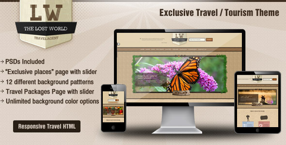 Lost World-Travel / Resort / Responsive HTML Theme