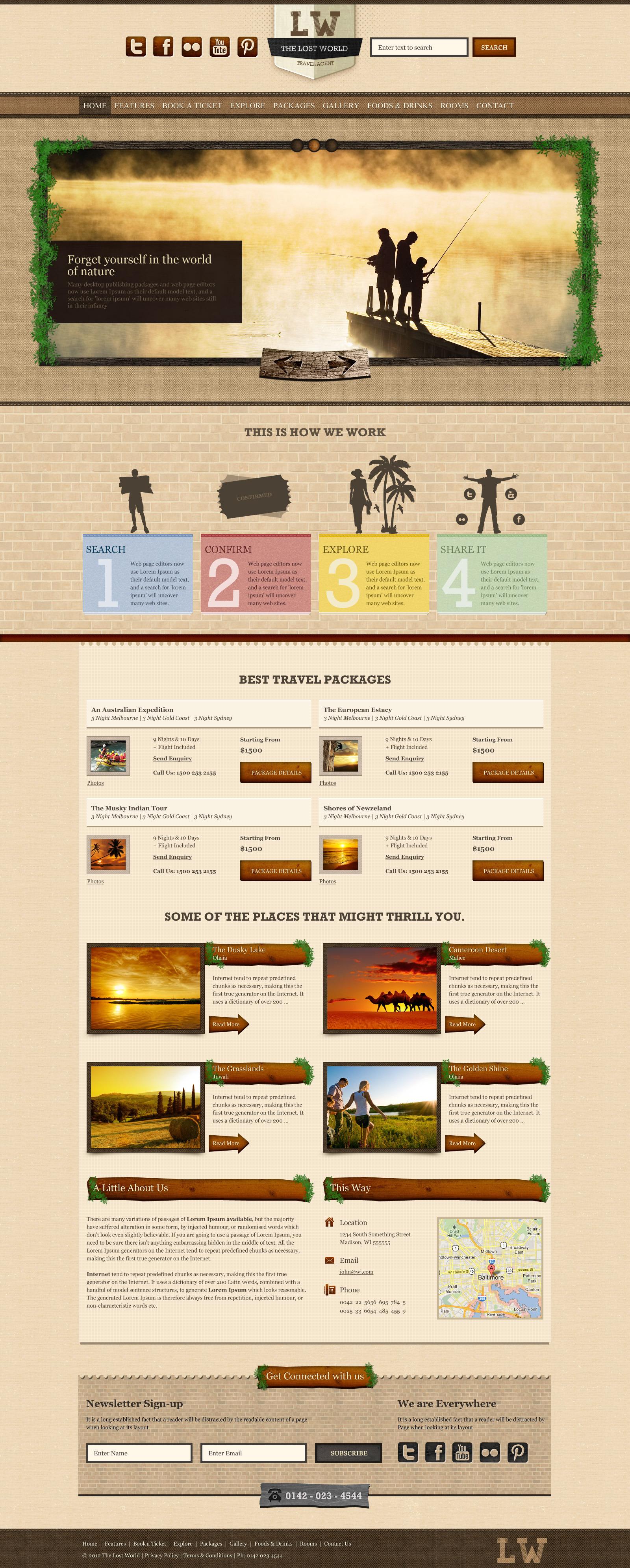 Lost World-Travel / Resort / Responsive HTML Theme