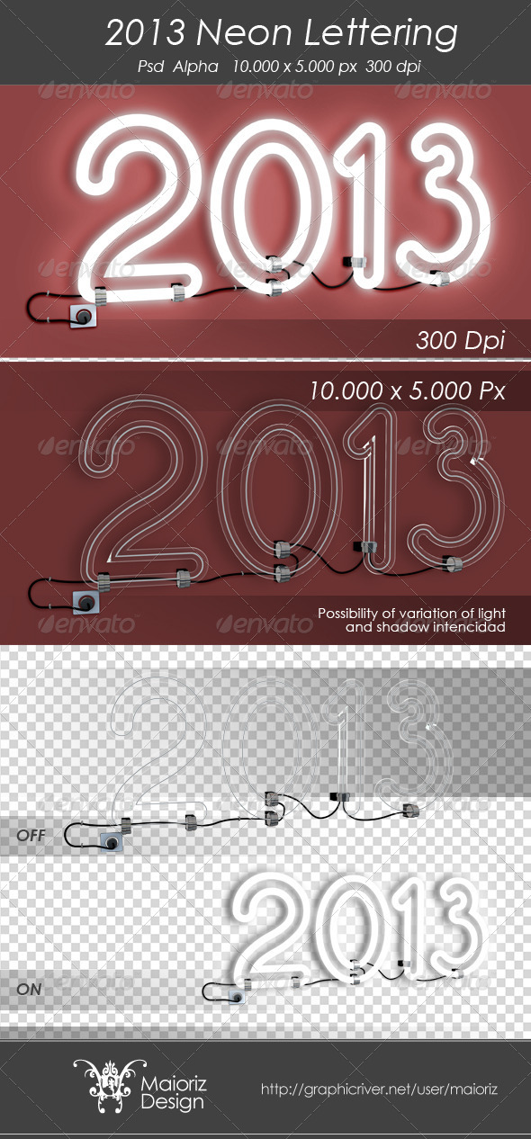 GraphicRiver 2013 Neon Sign 3290576