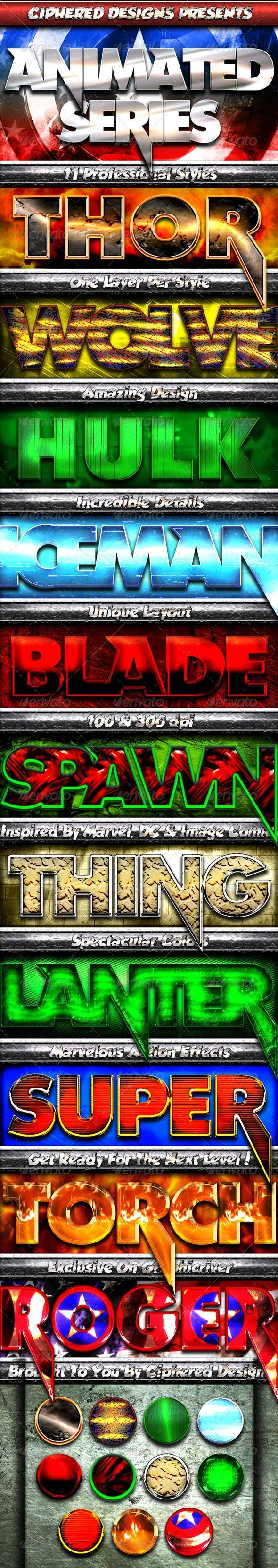 Animated Series - Professional Layer Styles - Text Effects Styles