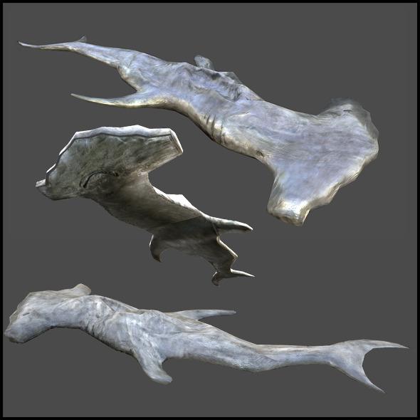 3DOcean Hammerhead Shark Corps 3290955