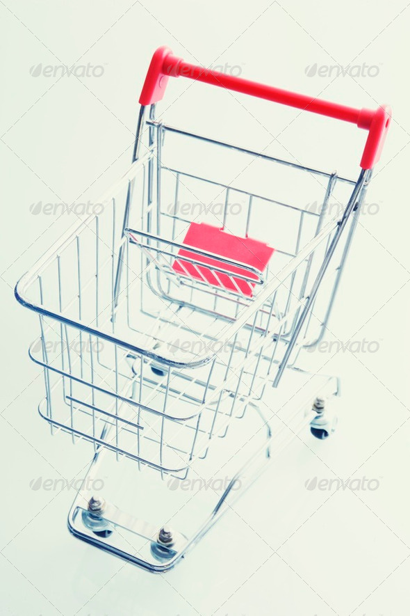 Empty Shopping Cart - Stock Photo - Images