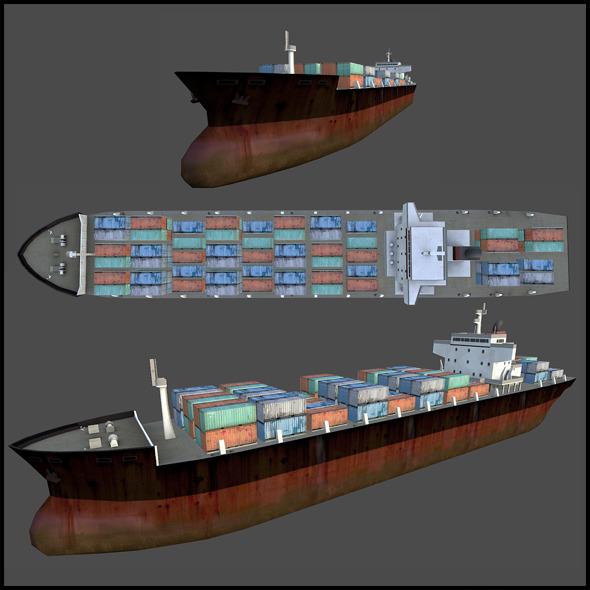 3DOcean Cargo Ship 3290986