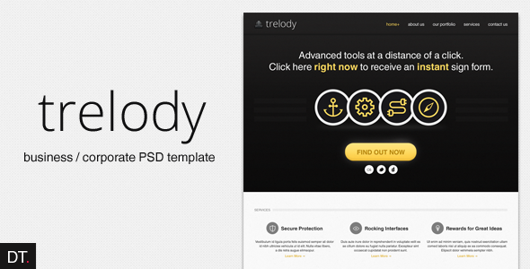 Trelody - Business/Portfolio PSD Template