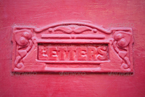 Close Up Of Red Letterbox - Stock Photo - Images