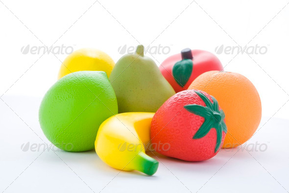 Selection Of Artificial Fruit - Stock Photo - Images