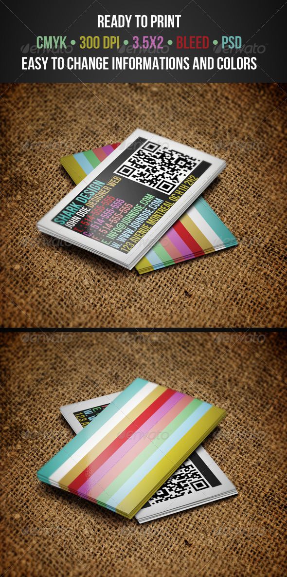 GraphicRiver Colorful Business Cards 3291212