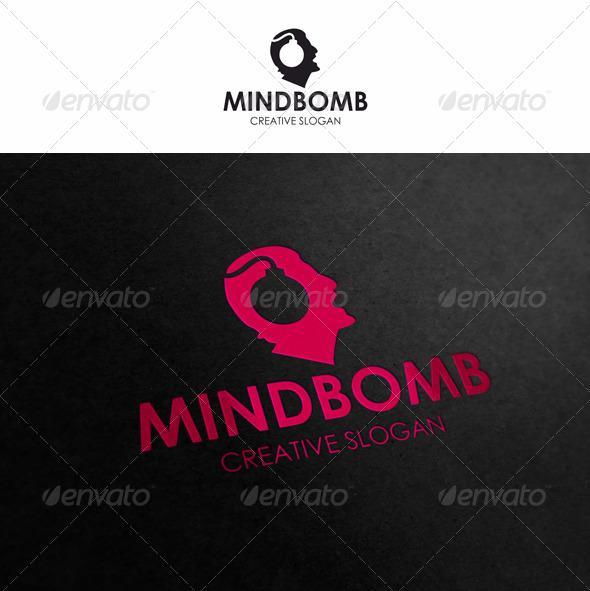 GraphicRiver Mind Bomb Brainstorm Logo 3291289