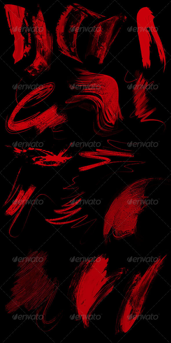 GraphicRiver Design Elements Pack 2 Grunge Strokes 3291412