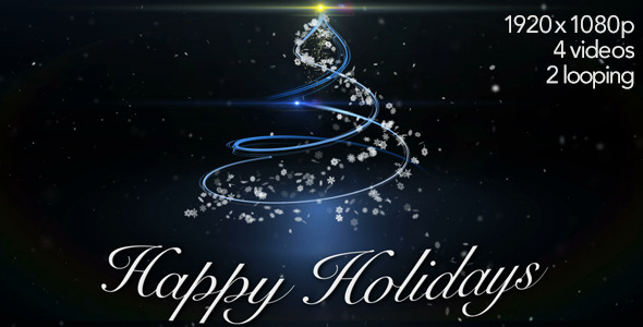 Happy Holidays Greetings by Tree 4 Video Styles