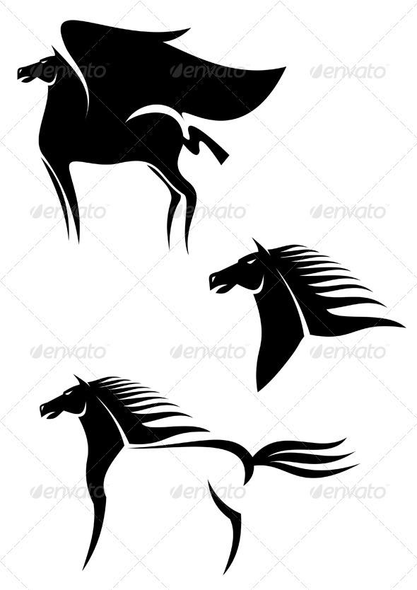 GraphicRiver Pegasus horses 3291506