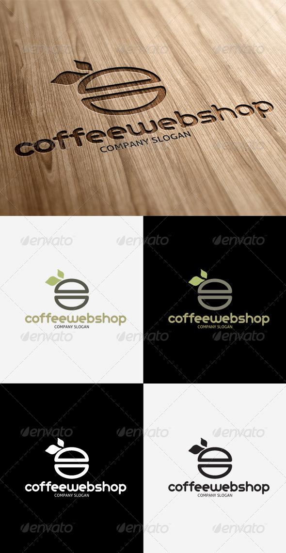 GraphicRiver Coffee Web Shop Logo 3291537