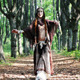 Mystical Woman Walk in Forest - VideoHive Item for Sale