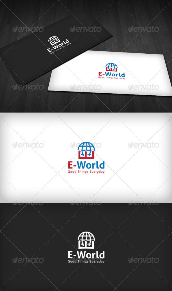 GraphicRiver E-World Logo 3291577