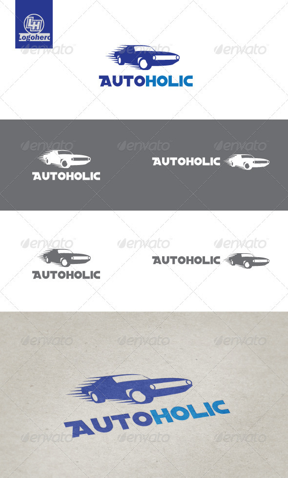 GraphicRiver Auto Holic Logo Template 3291659