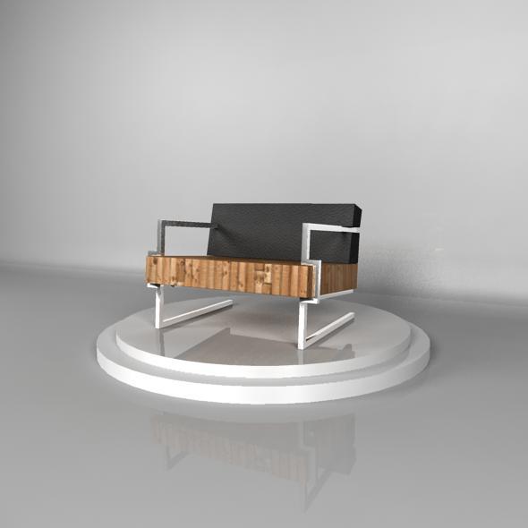 3DOcean Designer Chair Textured 116165