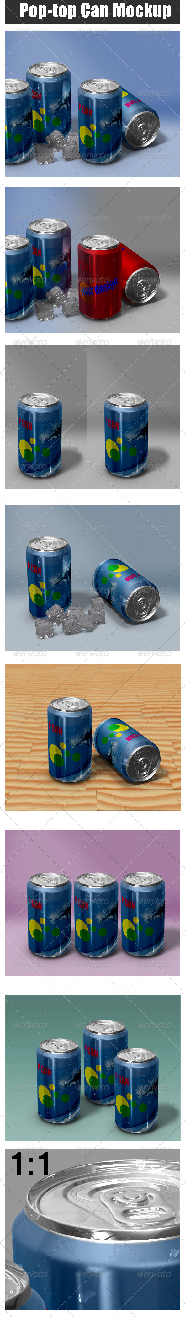 GraphicRiver Pop-Top Can Mock-up 3291674