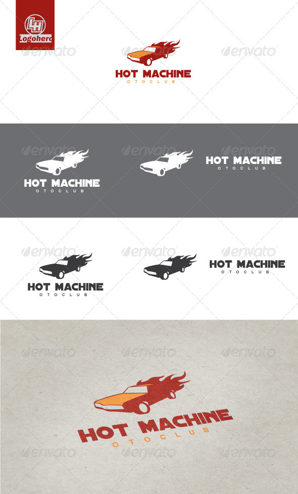 GraphicRiver Hot Machine Logo Template 3291932