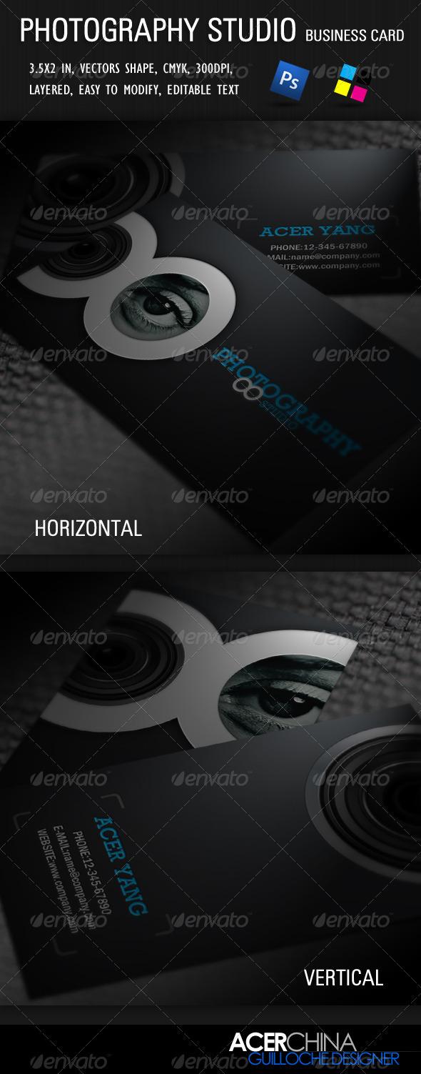 Photography Studio Business Card