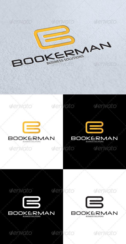 GraphicRiver Bookerman B Letter Logo 3292193