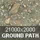 Ground. Gravel path.