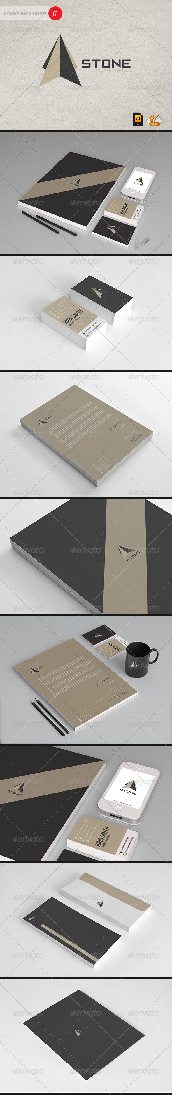 GraphicRiver Stationary & Identity Stone contructions 3293051